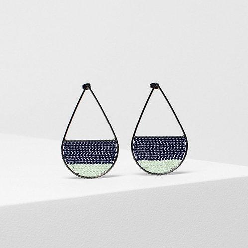 Jens Drop Earring - Moonlight/Seafoam