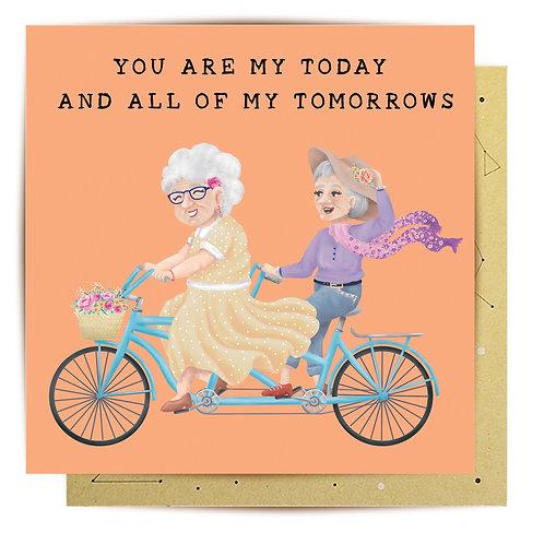 Greeting Card My Tomorrows Ladies