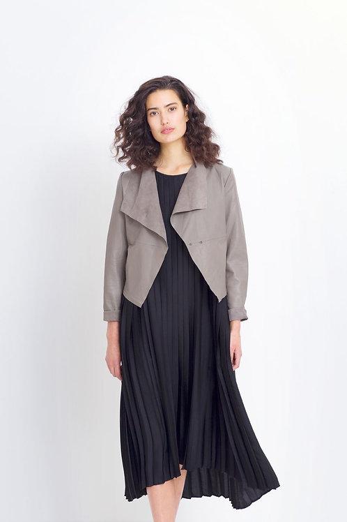 Fine Leather Jacket - Stone