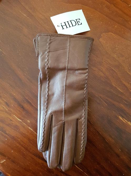 Leather Gloves - Coffee Stitch