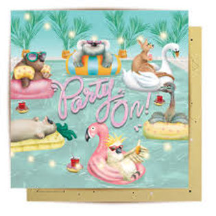Greeting Card Party On