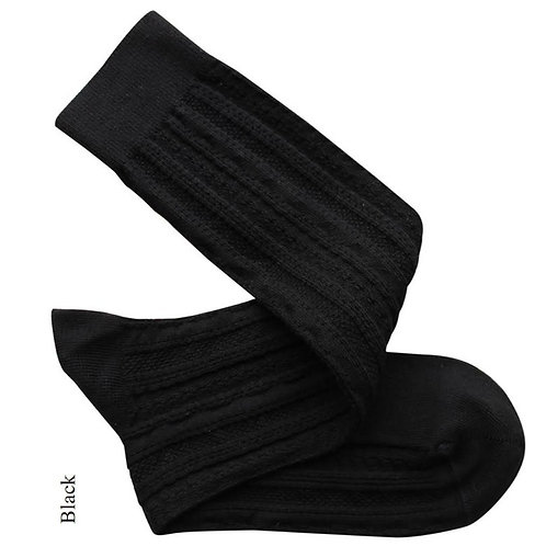 Tevere Long Socks - Black