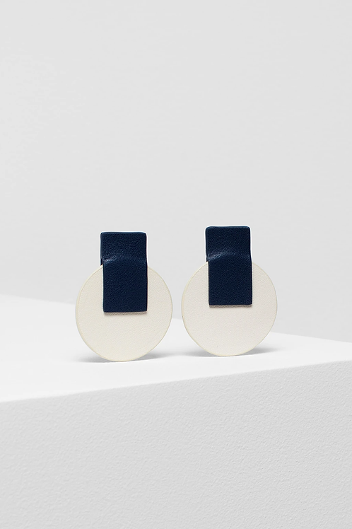 Anni Earring - Navy/Ivory