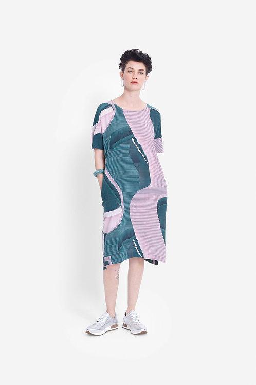 Catja Print Dress - Iris Swirl