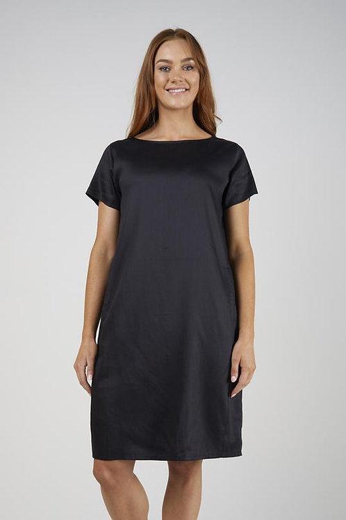 Side Panel Pocket Dress - Black