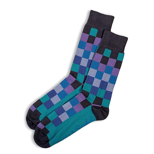 Diffused Socks - Chacoal/Lilac