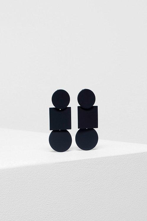 Fala Drop Earrings - Black