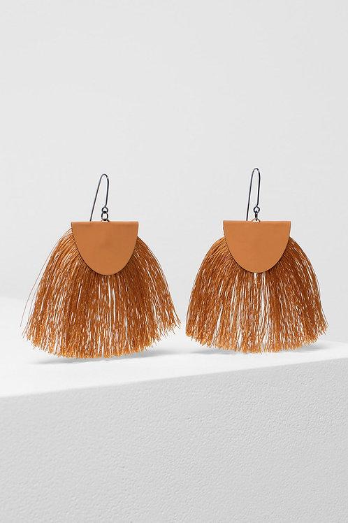 Holm Tassel Earring - Orange