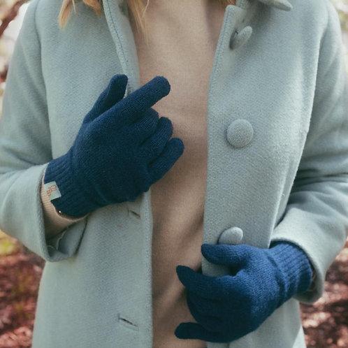 Unisex Lambswool Gloves - Diesel Blue