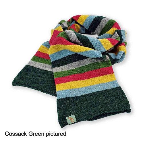 Stripe It Up Lambswool Scarf - Cossack Green