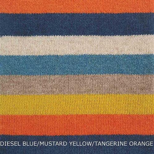 Stripe It Up Lambswool Scarf - Diesel Blue