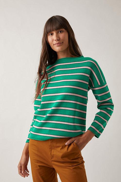 Lotus Knit - Green Stripe