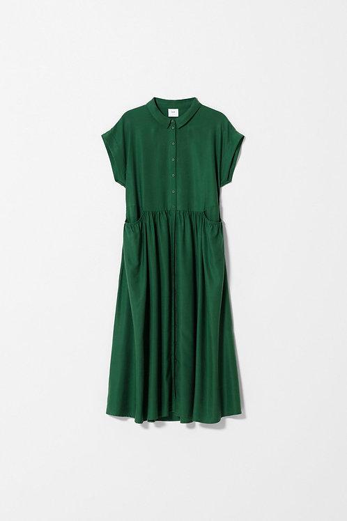Neon Garden Dress - Pesto