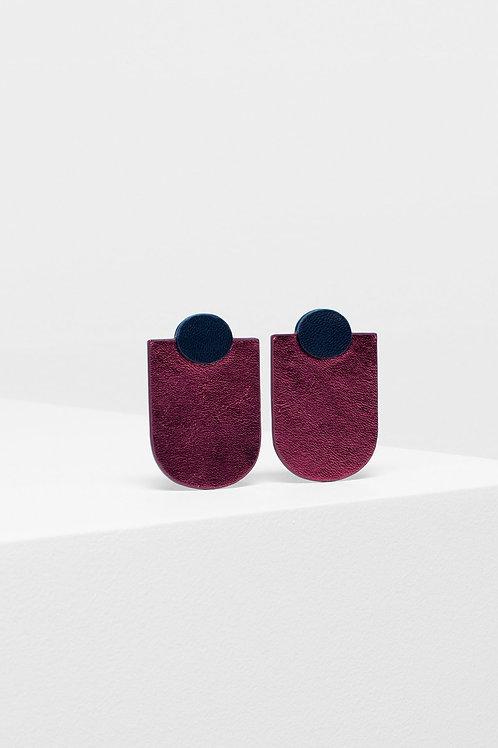 ELK - Knast Drop Earring - Navy/Garnet