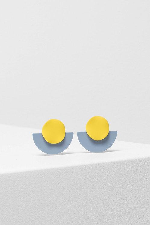 Rikke Earring - Yellow/Light Grey
