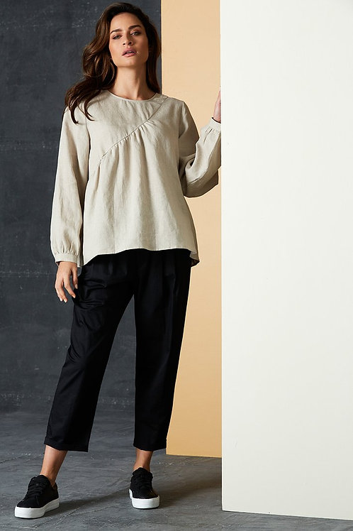 Bask Blouse - Flax