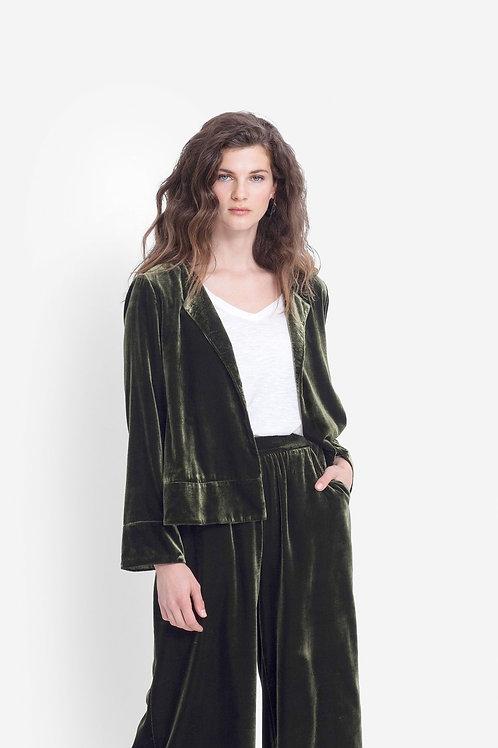 Metti Velvet Jacket - Olive
