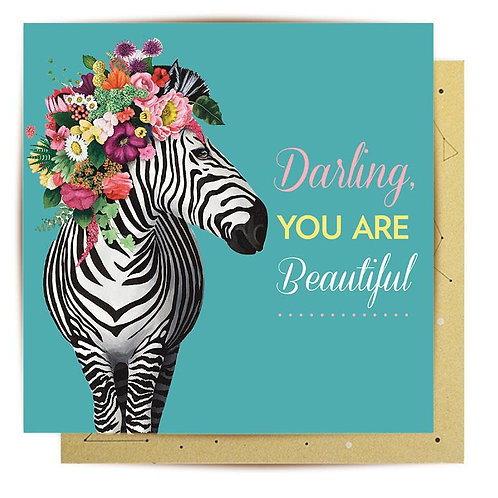 Greeting Card Wild Zebra