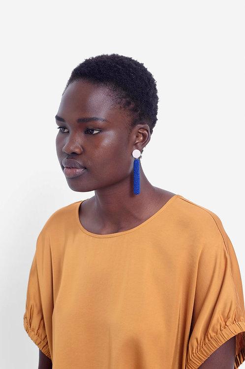 Rakel Earring - Cobalt/Blush