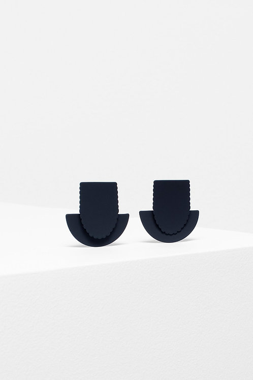 Flor Drop Earring - Black