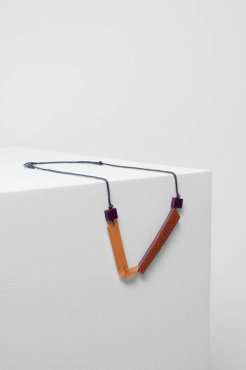 Halna Necklace - Orange/Magenta Spot