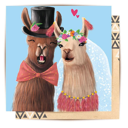 Mini Card Llama Wedding