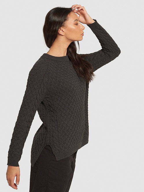 Somerset Pullover - Charcoal Marle