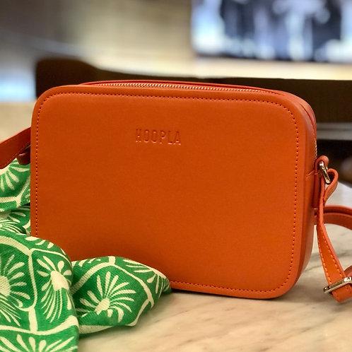 Hoopla Cross Body Box Bag - Orange