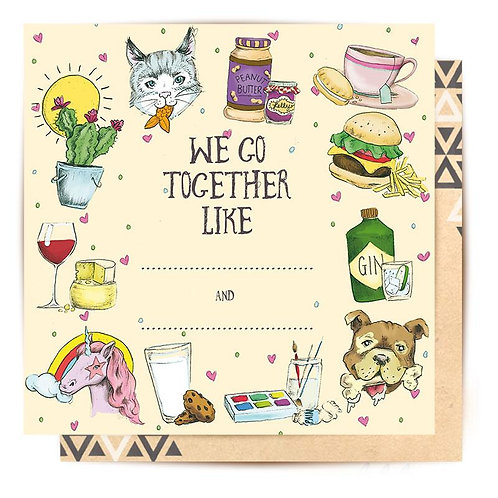 Greeting Card Complete Me - We Go Together Like