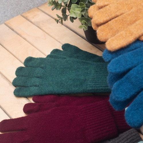 Unisex Lambswool Gloves - Cossack Green