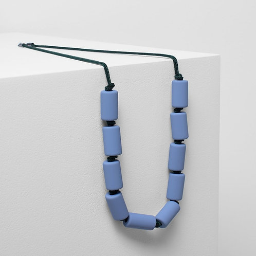 Nicla Necklace - Light Blue / Dark Green