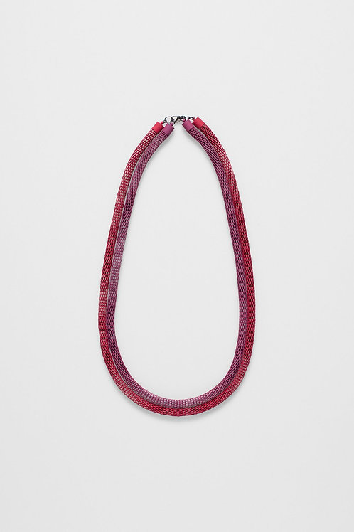 Britt Necklace - Boysenberry/Red