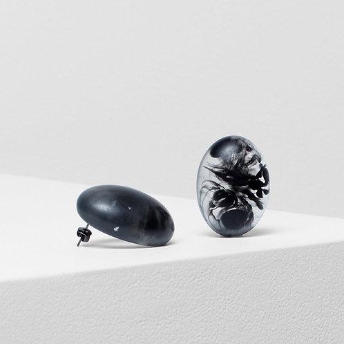 Organisk Bead Earring - Black