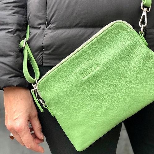 Hoopla Mini Cross Body Slouch Bag - Bright Green