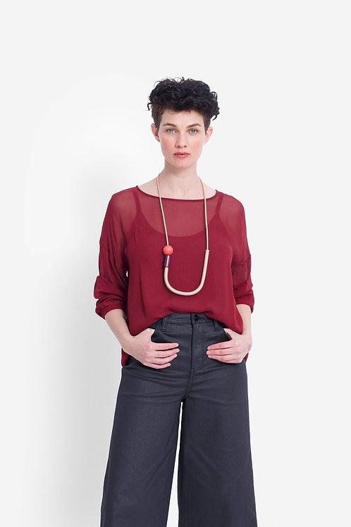 Catja Sheer Top - Red Rust
