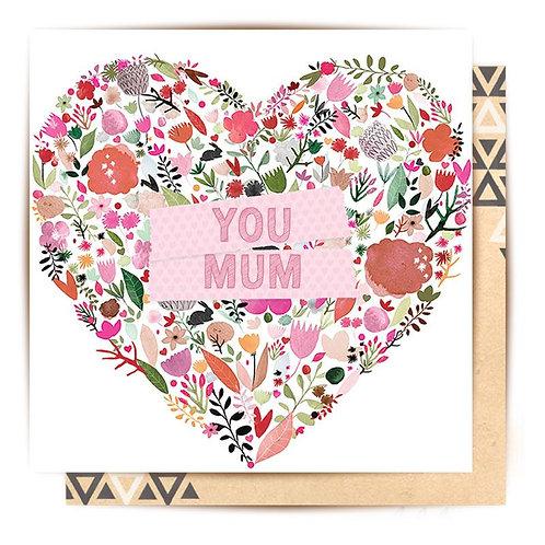 Greeting Card Love You Mum
