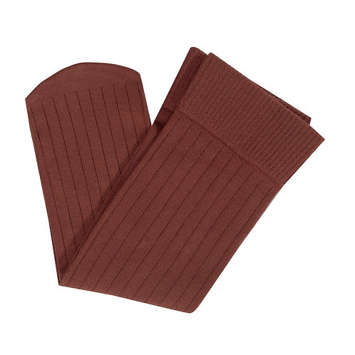 Rib Socks - Chocolate
