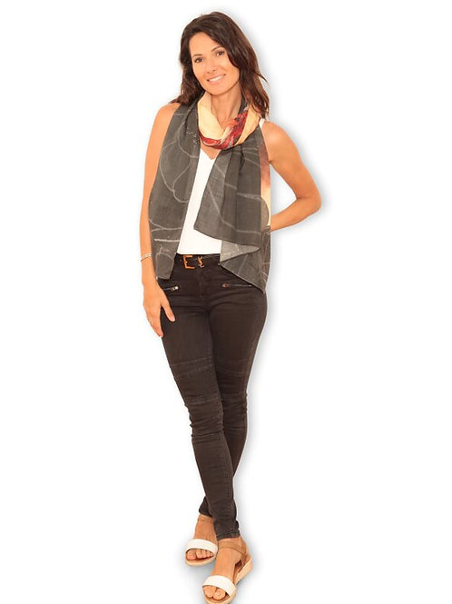Carbon Beauty Wool Scarf