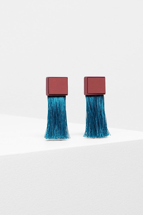 Mostro Tassle Earring - Red Clay
