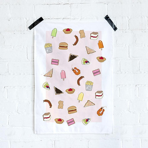 Iconic Tea Towel - Aussie Foods