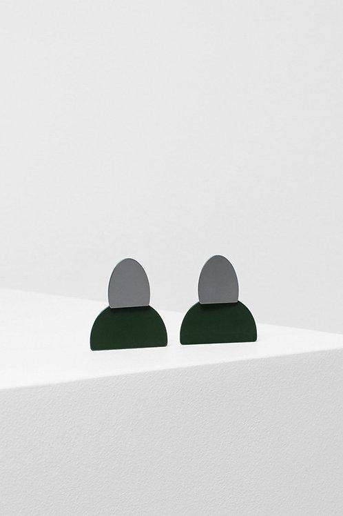 Birgita Earring - Cactus/Gunmetal