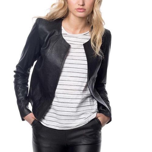 Milla Leather Jacket - Black