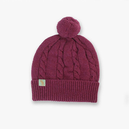 Cable Beanie - Rosehip Pink
