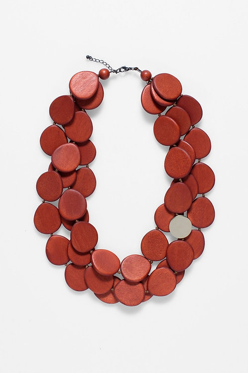 ELK - Kolmio Multi Strand Necklace - Orange
