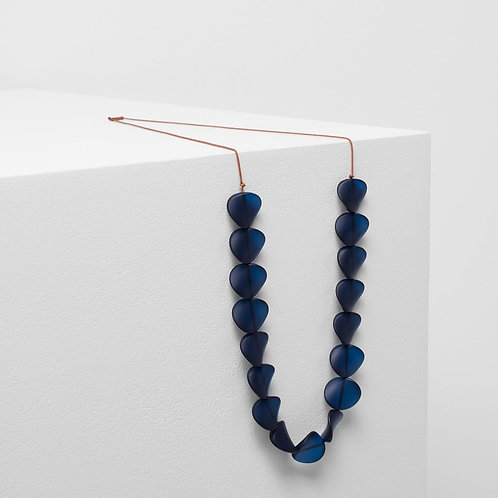 Varna Necklace - Navy/Terracotta
