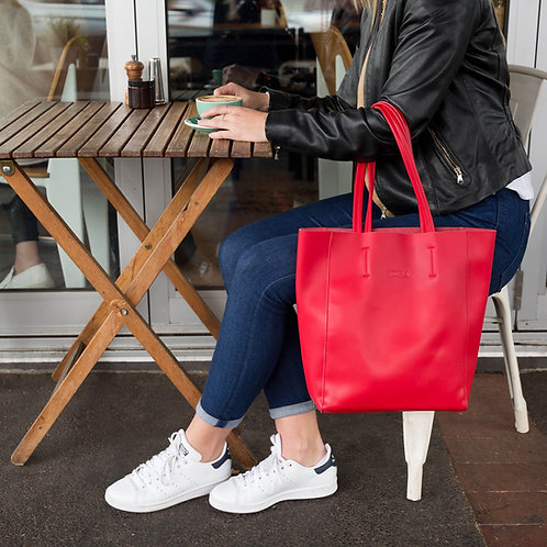 Hoopla Small Tote - Portrait Red