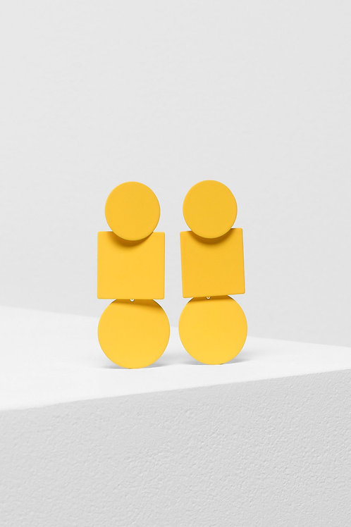 Fala Drop Earrings - Yellow