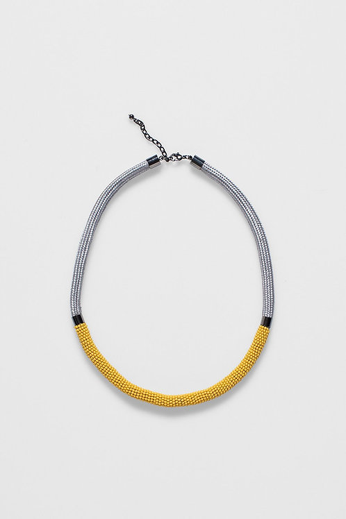 Rek Necklace - Amber/Light Grey