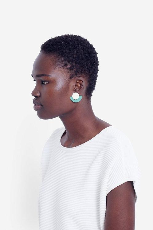 Rikke Earring - Ecru/Olive