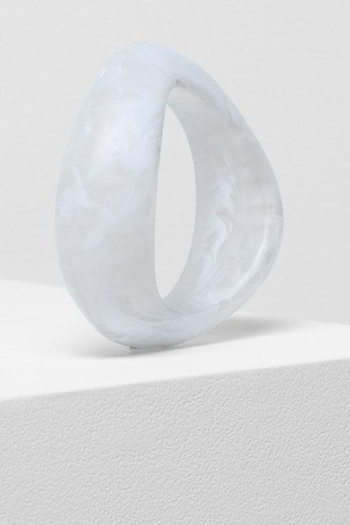 Organisk Thick Bangle - White Matte